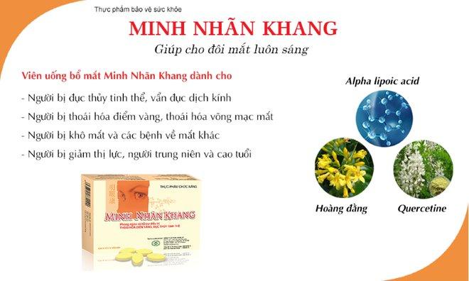 Chuyên gia tư vấn về bệnh đục thủy tinh thể giới thiệu về Minh Nhãn Khang